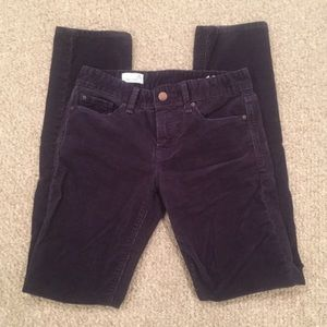 GAP 1969 Real Straight Navy Skinny Corduroys